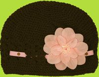 Too cute!  The hat has an adjustable ribbon and a removable flower clip!  Already ordered!