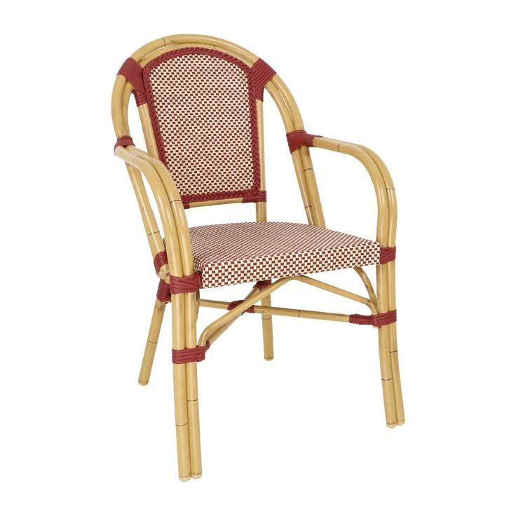 bolero-continental-bistro-wicker-armchair-red-&-cream-pack-of-4
