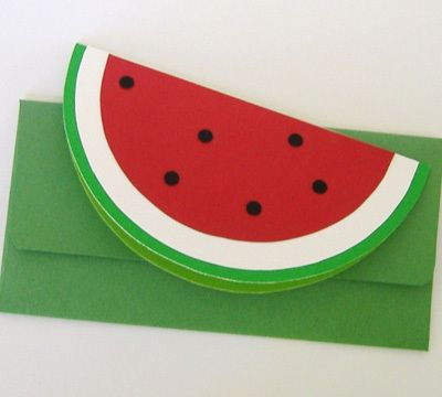 Photo of a completed watermelon card.