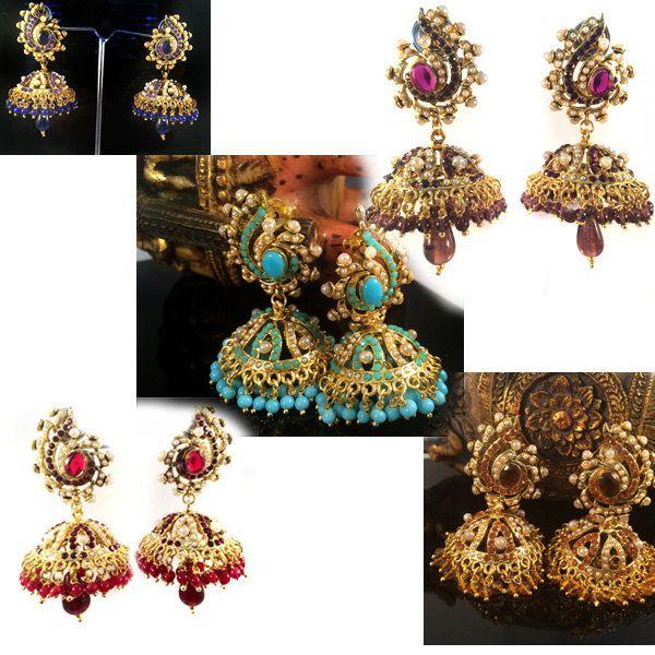 Gold Jhumka earrings,Chandelier Earring Long Earrings Bridal Jewelry  Indian wedding Jewellery ,dome earrings ,Umbrella by TANEESI by taneesijewelry on Etsy