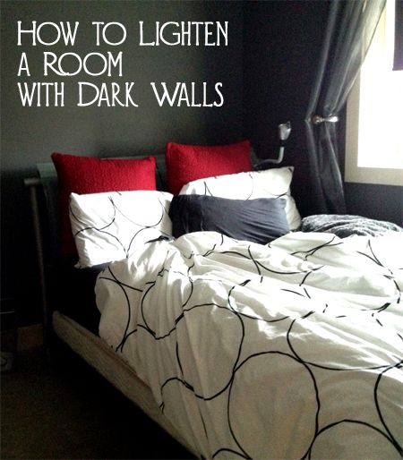 How To Lighten A Room With Dark Walls Dark Colors And