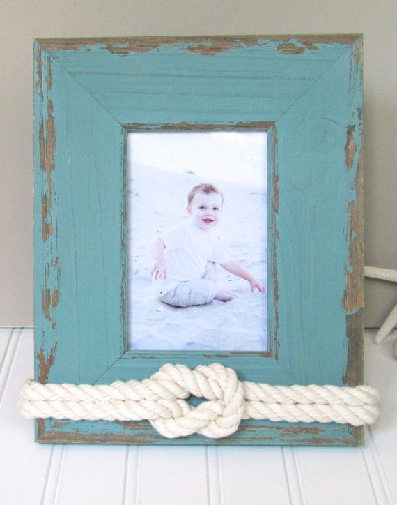 4x6 Weathered Teal Picture Frame Beach Decor by Golden Gray