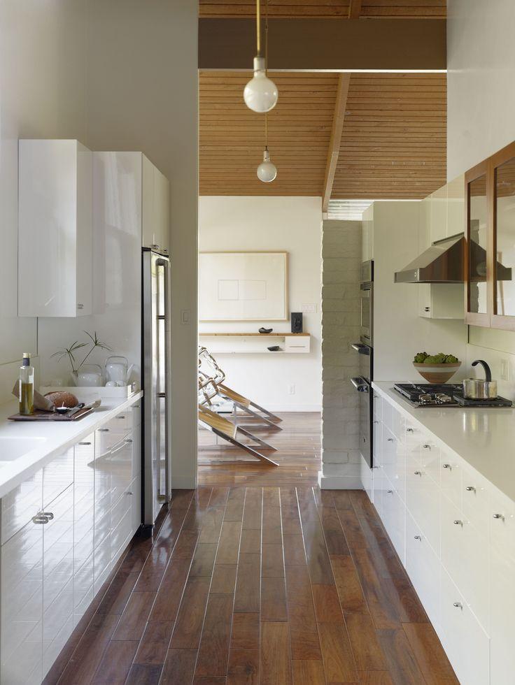 12 best mod mid century kitchen design images on pinterest for Modern galley kitchen photos