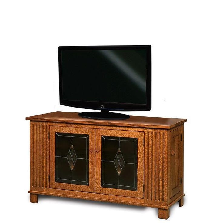 """Amish Mission 54"""" TV Stand with Side Storage This mission TV Stand is luxurious storage and style for your family room."""