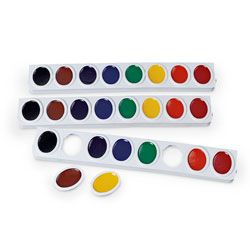 PRANG® Watercolor Oval 8-Color Replacement Trays - Set of 3
