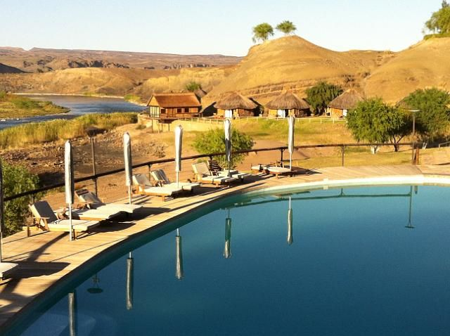 Our lovely lodge on the Orange River in Namibia