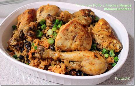 arroz con pollo y frijoles negros 0