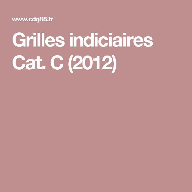 Grilles indiciaires Cat. C (2012)