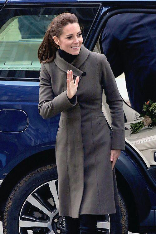 The Duchss of Cambridge arriving at Caernarfon in Wales on November 20th 2015.