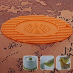 Creative Anti-slip and Heat-insulated Safe Circular Mat for House Use (Orange)