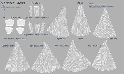 Merida Dress Sewing Pattern - Cosplay.com