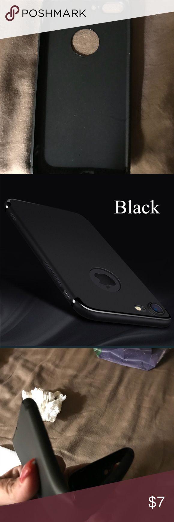 IPhone 7plus phone case Silicone iPhone 7 plus phone case/cover. Soft matte 360 cover. Anti-fingerprint. Black (NEW) Accessories Phone Cases