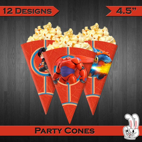 20%OFF Big Hero 6 Party Cones Birthday Party di AllBestForKidz