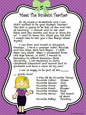 Best 25+ Teacher introduction letter ideas on Pinterest Letter - letter of introduction teacher