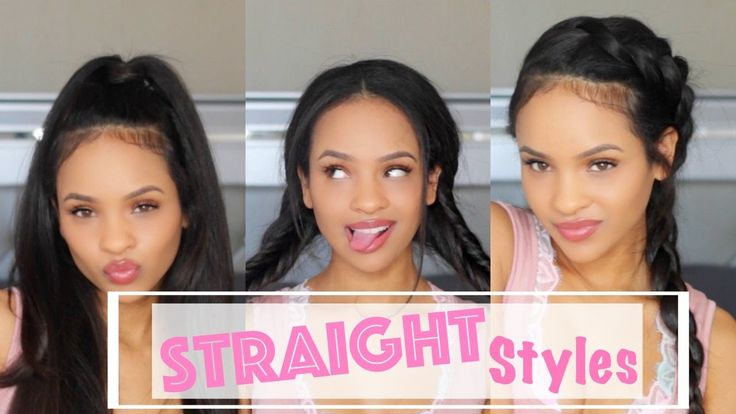 Simple/Casual Hairstyles For Straightened Natural Hair