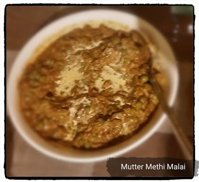 A Gourmet Meal: MUTTER METHI MALAI (a guaranteed 30 minute recipe)...