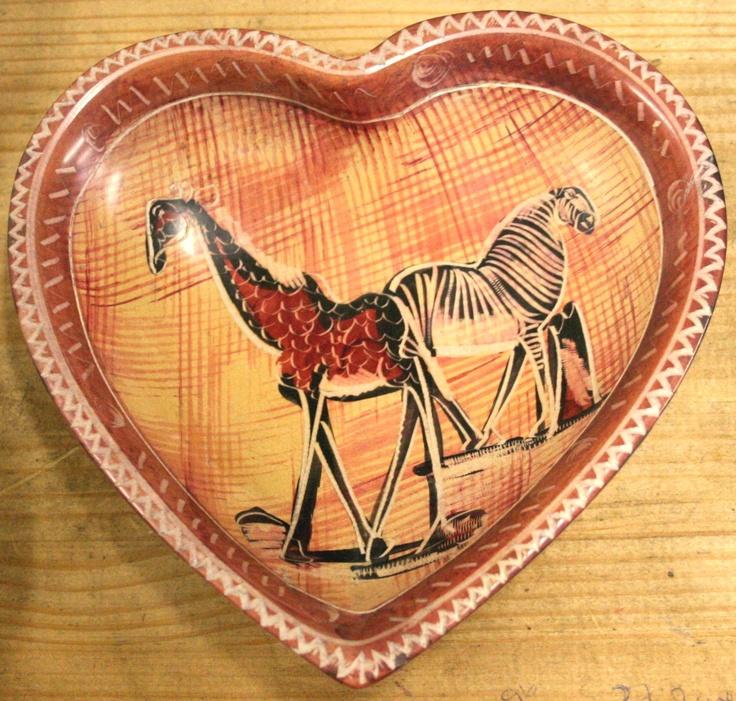 Heart-shaped Bowl Handmade From Soapstone From Kenya