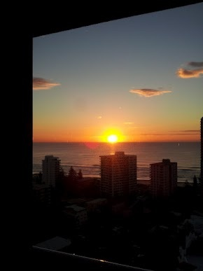 Gold Coast - sunrise at Surfers Paradise Beach.  #Gold Coast #QLD #Australia
