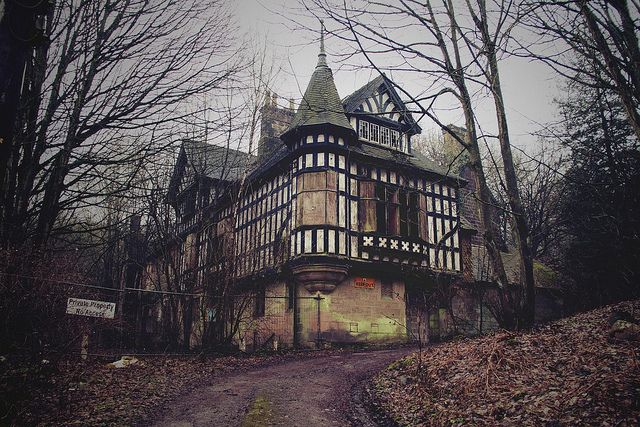 Abandoned  - Ambergate, Derbyshire.  The Oakhurst House, built in 1843.