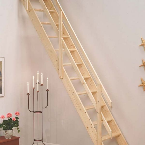 right attic stair insulation with decorative candles