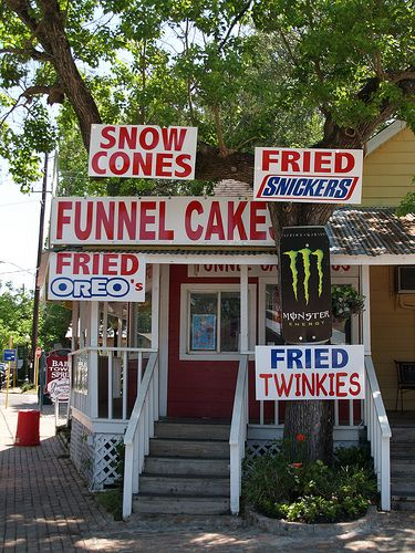 Spring, Texas - Old Town Spring 2008 - Funnel Cake House - Cannot go to Old Town Spring without getting a funnel cake here!