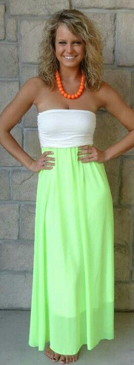 Beautiful neon green dress