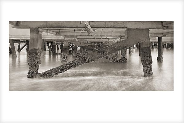 """""""Under Devonport Wharf"""" is a fine art photograph by Jonathan Bourla.  Taken with a large format view camera similar to the plate cameras of one hundred years ago.  This limited edition photograph is printed on one hundred percent acid-free cotton rag paper with pigment ink.  To see more of Jonathan's photographs, go to www.jonathanbourla.com"""