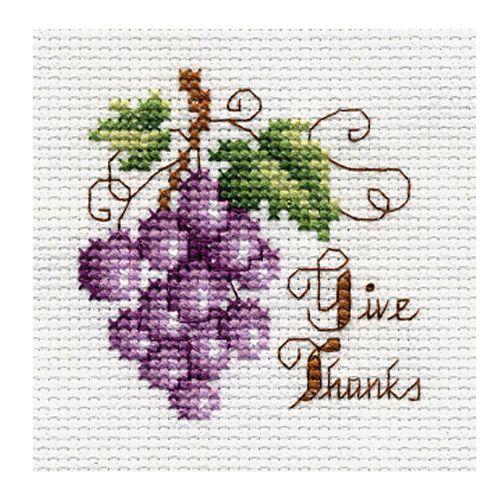Bucilla ® Counted Cross Stitch - Beginner Stitchery - Mini - Give Thanks   Plaid Enterprises