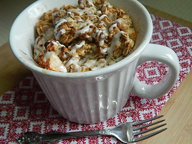 Single serve apple crisp – Drizzle Me Skinny! 4 smart points, dessert for breakfast.