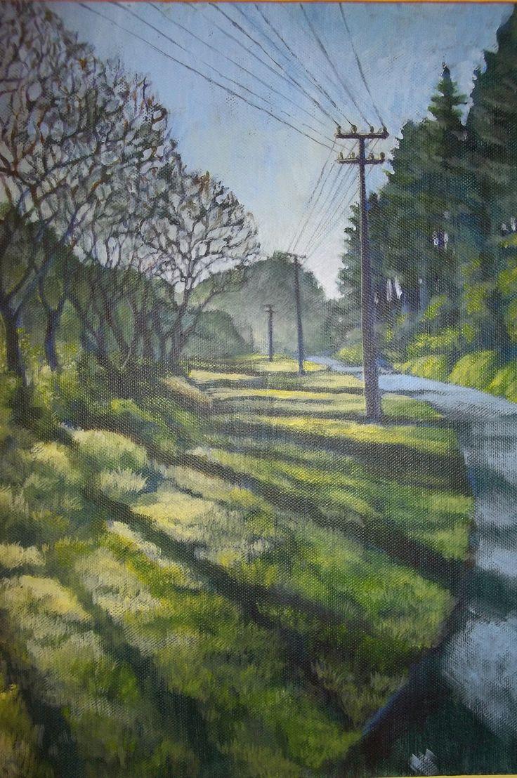 Shadows on Huia Road Acrylic on canvas