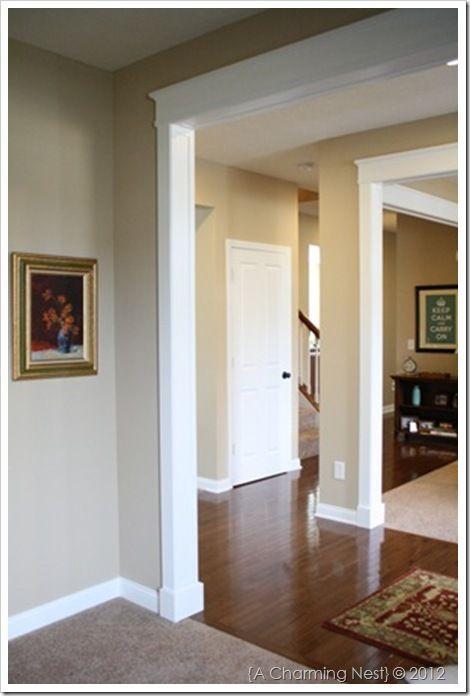 Best 25 door frame molding ideas on pinterest door for Door frame color ideas