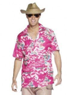 Een Hawaii blouse voor heren. De Hawaiiaanse blouse is roze van kleur met palmbomen, eiland prints en de tekst Hawaii. Leuk in combinatie met een bloemenkrans of strohoed en uitermate geschikt voor feestjes met een caribisch, zomer of Hawaiiaans thema. Deze Hawaii blouse is een productie van Smiffy's.