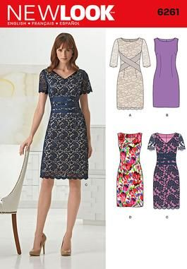 Simplicity Creative Group - Misses' Dress with Neckline Variations - 6261 - just a simple dress which you can dress up....