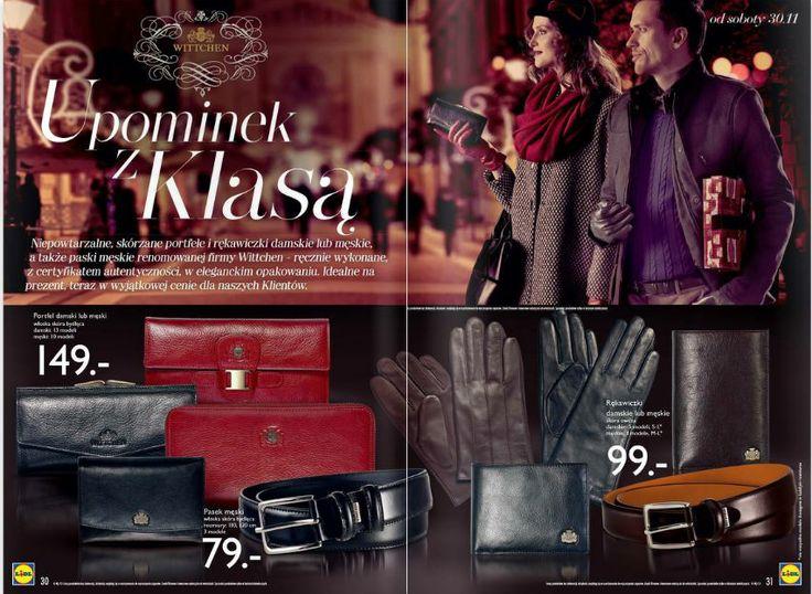Od soboty 30 listopada w Lidlu dostępne ekskluzywne produkty firmy Wittchen: portfele damskie i męskie, rękawiczki oraz paski. Macie prezenty dla swoich bliskich na wyciągnięcie ręki w naprawdę atrakcyjnych cenach! Kto ustawi się w kolejce? http://www.promocyjni.pl/gazetki/12066-rozkosz-dla-podniebienia-gazetka-promocyjna