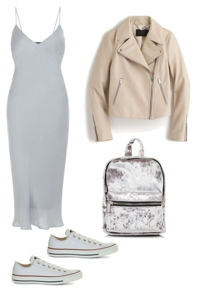 """""""Casual glam"""" by earringsandstuff on Polyvore featuring New Look, Converse and J.Crew"""