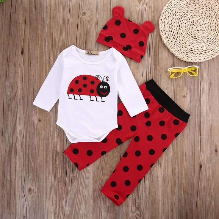 Ladybug and Monkey Three Piece Outfit   Tag a friend who would love this!   FREE Shipping Worldwide   Buy one here---> https://www.babiecare.net/ladybug-and-monkey-three-piece-outfit/