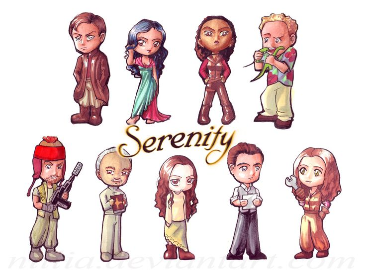The first half of a huge commission of the Firefly cast as chibis. Description from deviantart.com. I searched for this on bing.com/images