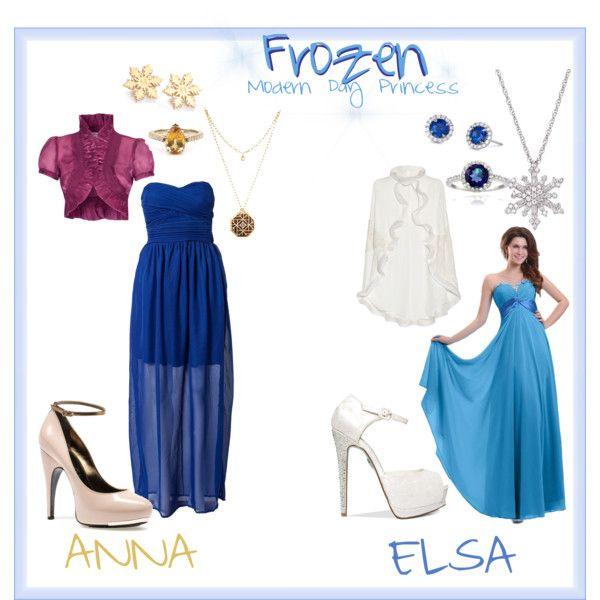 """Anna & Elsa  - Frozen""  Modern Day Disney Princess"