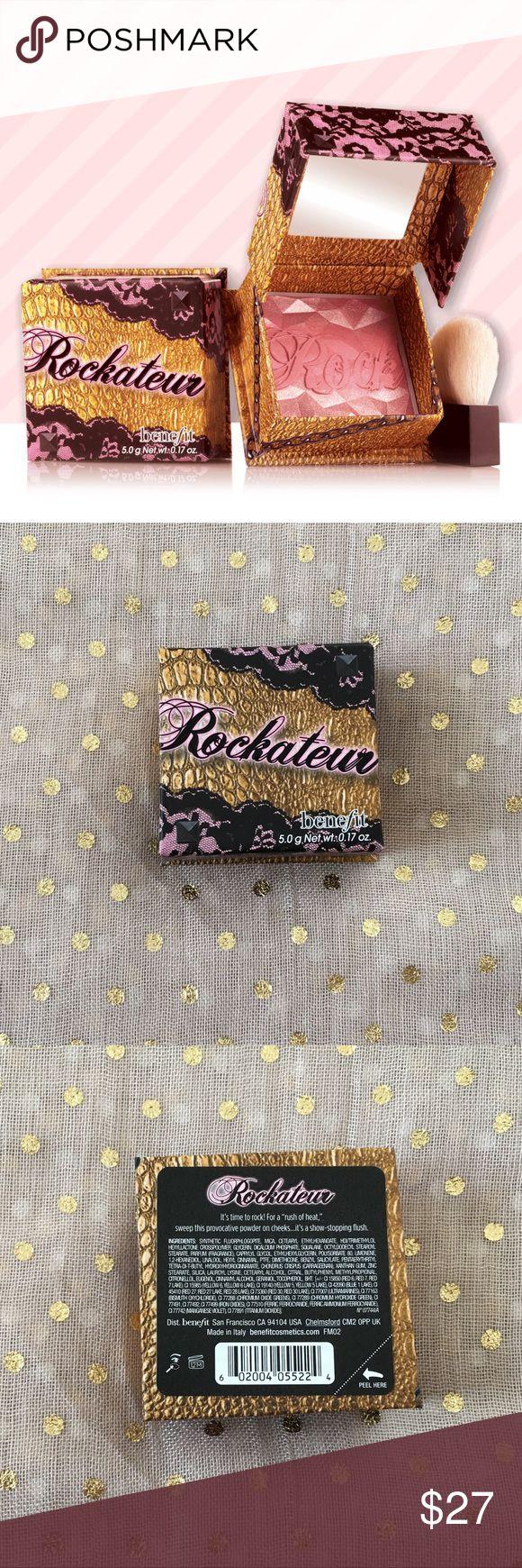 Benefit Rockateur Box o' Powder Blush New in box. Never used or swatched. Benefit Rockateur Box o' Powder Blush, full size. Benefit Makeup Blush