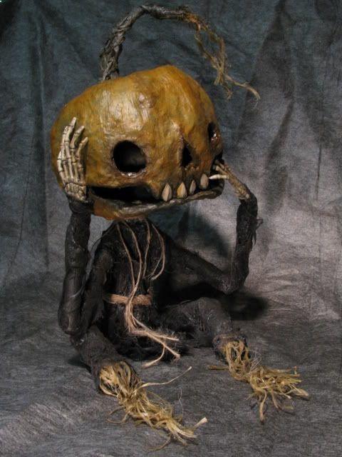 Halloween, All Hallows Eve, Trick or Treat, Witch, Goblin, Ghost, Black Cat, Bat, Skull, Ghouls, Scarecrow, Jack-O-Lantern, Pumpkin, Spooky, Scary, Haunting, Creepy, Frightening, Full Moon, Autumn, Fall, Magic Potion, Spells - Pumpkin Head From Shadow Farm