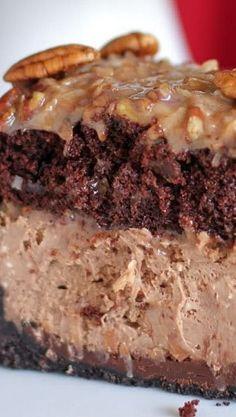 German Chocolate Cheesecake...oh dear me!