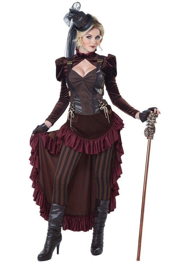 Victoriaanse steampunk dame bordeaux - PW Hoofs
