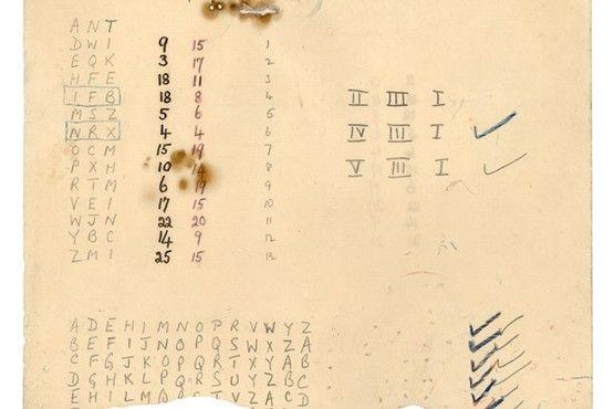 Mathematician Alan Turing's notes
