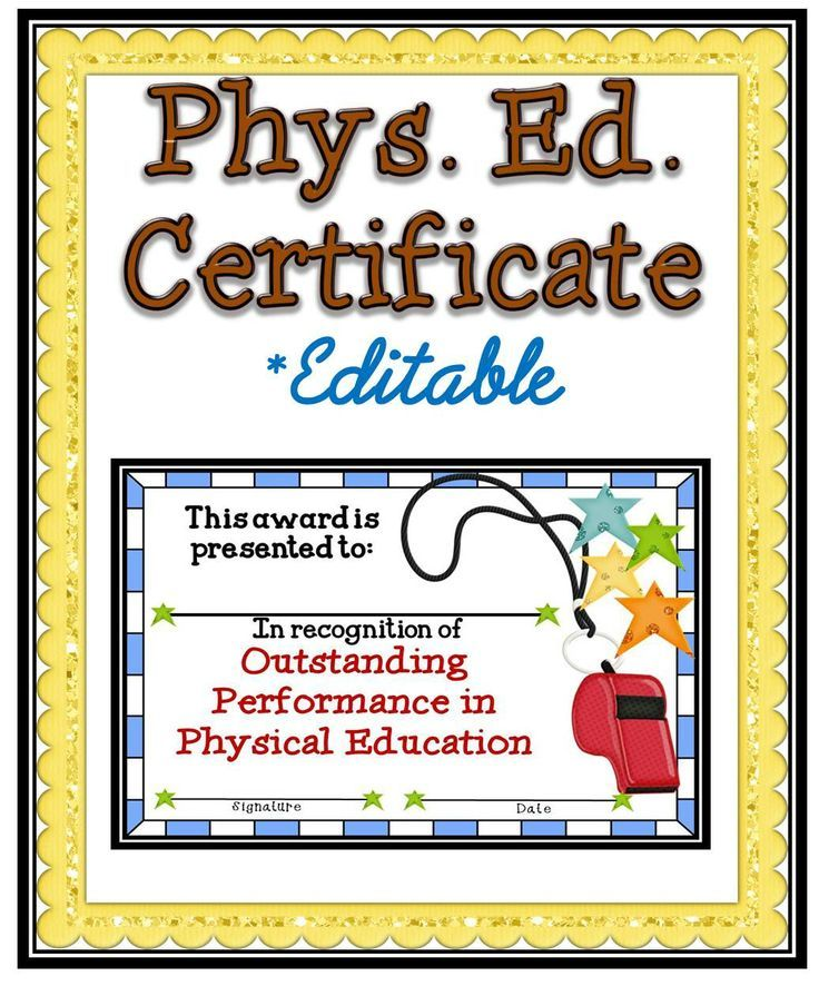 Classroom Ideas Awards ~ Best pe awards certificates images on pinterest