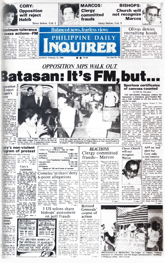 #INQBack Sunday. February 16, 1986.