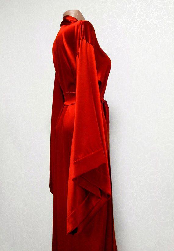 b60031e688 Silk Robe many colors Silk kimono robe 100% Pure Natural