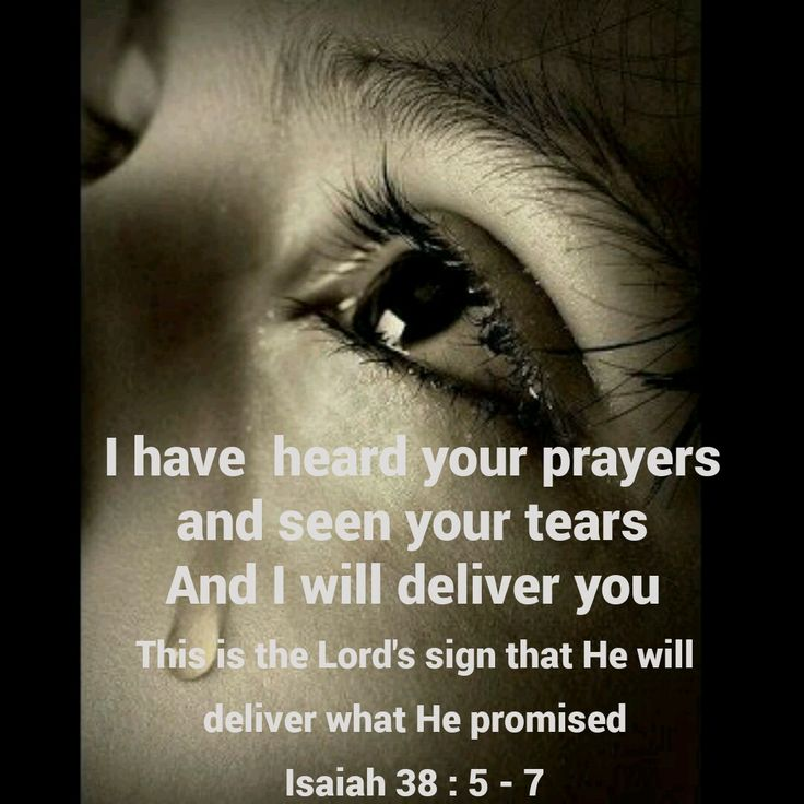 Image result for i have heard your cry and seen your tears