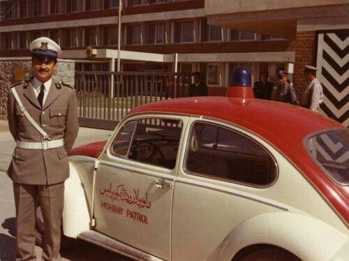 WV Afghanistan police car