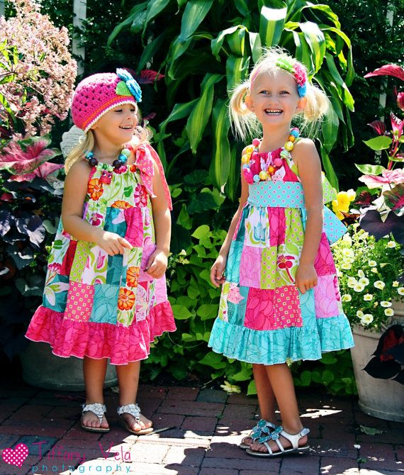 Claire's Patchwork Pillowcase Dress PDF Pattern size 18 months to size 6. $10.00, via Etsy.
