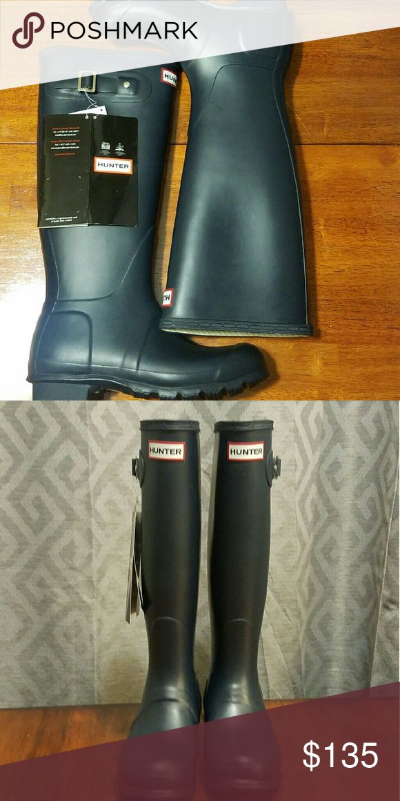 Hunter Boots Authentic tall navy hunter boots. Not glossy. Hunter Boots Shoes